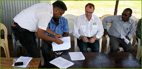 Signing of contract with the locals in Nyongoro