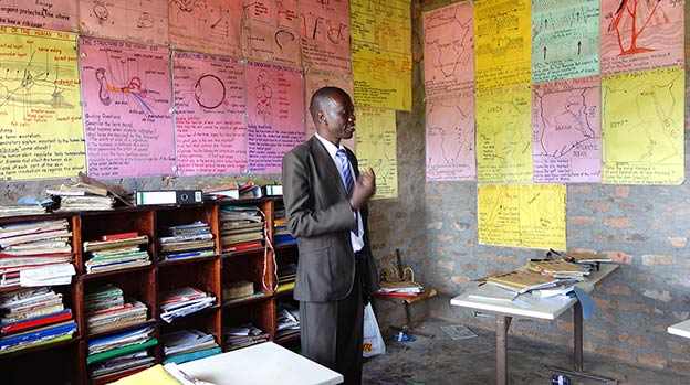 Classroom at Equator School, Uganda