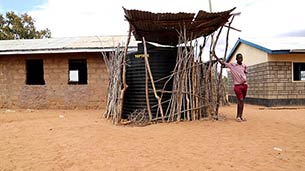 Water tank donated by Better Globe to Mboti School, Kenya