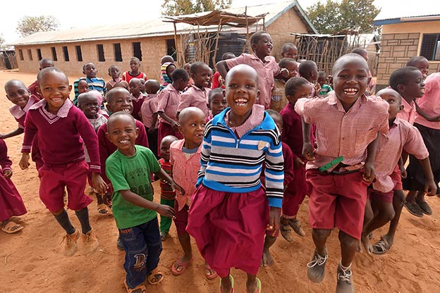 Happy children at Mboti School, Kenya