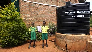 Water tank donated by Better Globe to Equator School, Uganda